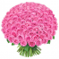 Bouquet of 70 pink roses in a vase - ΒΑΖ 072255